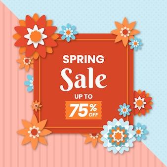 Realistic spring sale concept