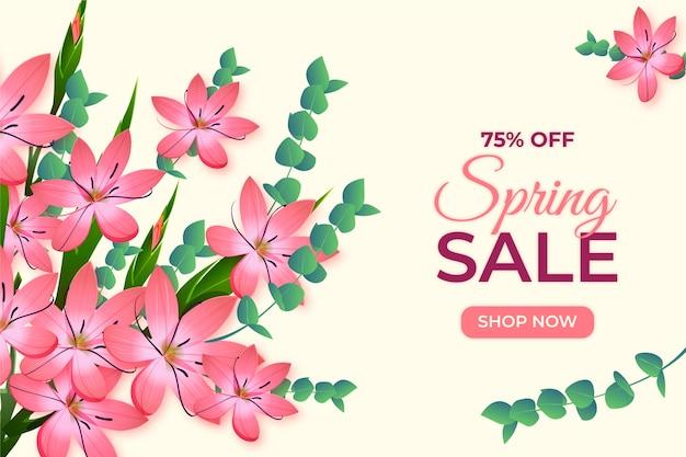 Promo vendita di primavera realistica