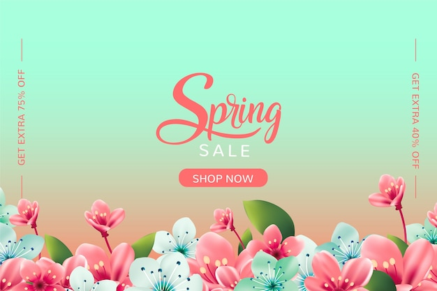 Realistic spring sale