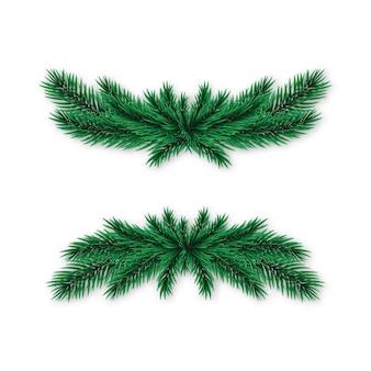 Realistic spruce wreath