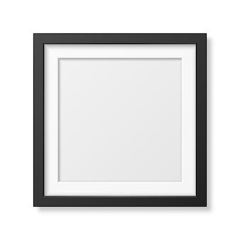 Realistic square black frame