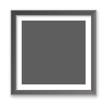 Realistic square empty picture frame. blank picture frame mockup