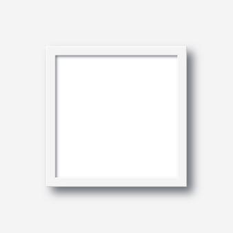 Realistic square empty picture frame