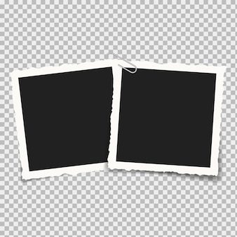 Realistic square frames photography isolated