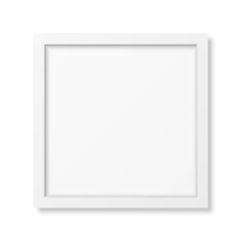 Realistic square white frame