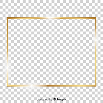 Realistic squared golden frame