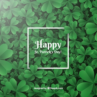 Realistic st. patrick's day background