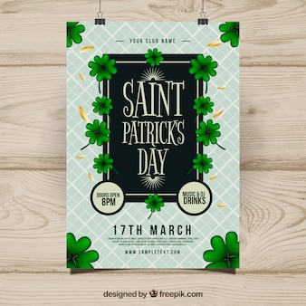 Realistic st. patrick's day flyer/poster