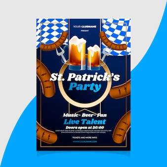 Realistic st. patrick's poster design