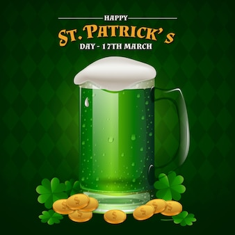 Realistic st. patricks day concept