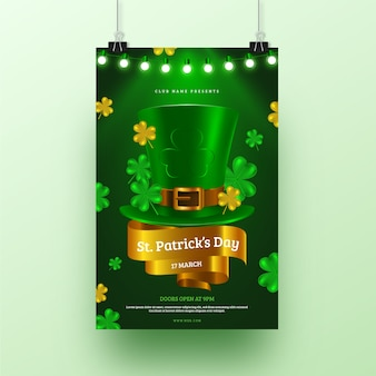 Realistic st. patricks day flyer template
