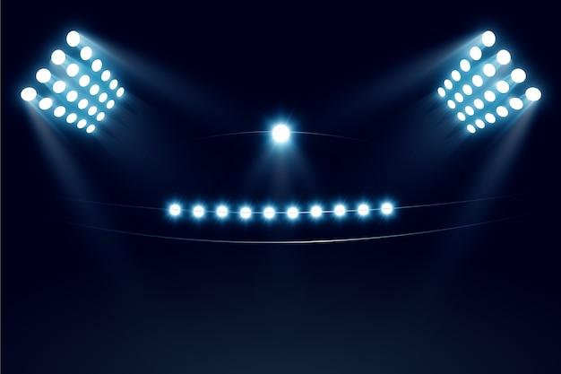 Realistic stadium beam lights