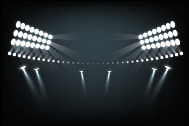 リアルなスタジアム照明効果