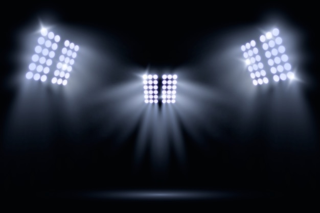 Realistic stadium lights