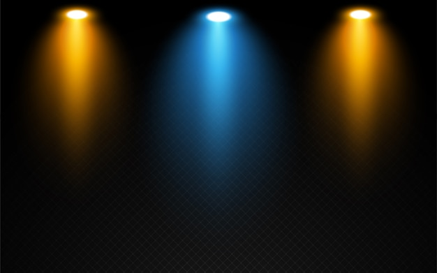 Realistic stage lights effect