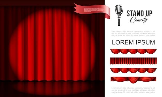Realistico concetto di performance sul palco