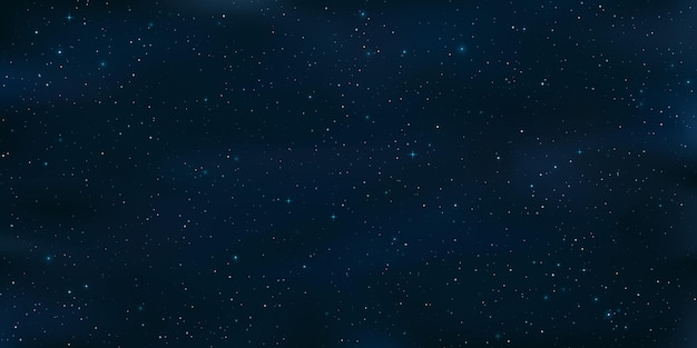Realistic starry sky. shining stars in the night sky. galaxy objects. cosmic background or wallpaper for your design.