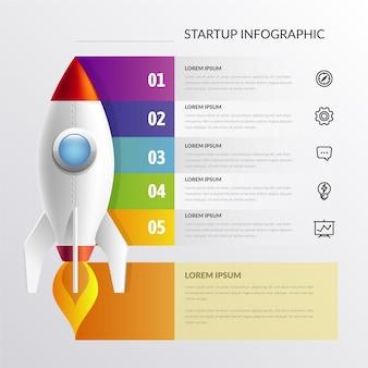 Реалистичный стартап инфографики