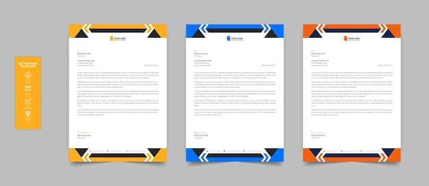 Realistic stationery letterhead   design