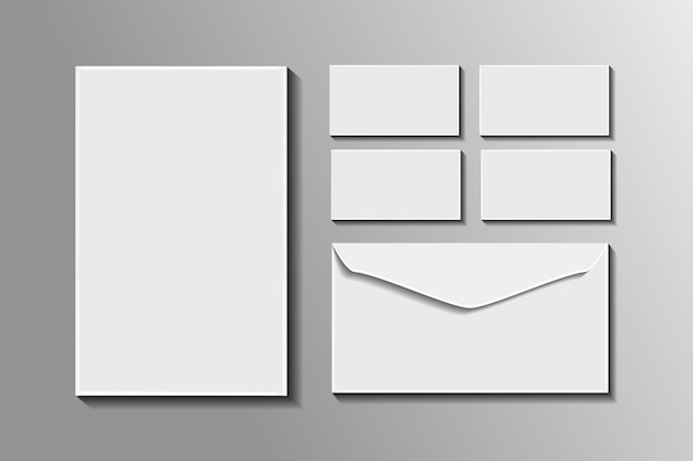Realistic  stationery mockup for decoration and  covering. concept of corporate identity branding.