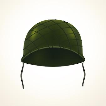 カモフラージュグリッド付きのリアルなスチール製メタリックヘルメット