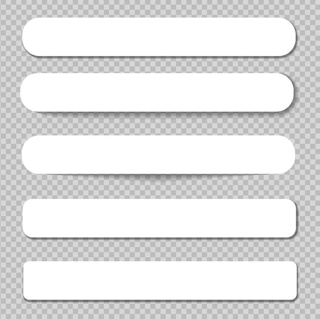 흰색 배경에 실제 그림자와 격리 현실적인 스티커 메모