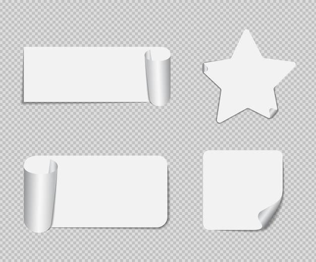 Реалистичные заметки, изолированные с реальной тенью. квадратные липкие бумажные напоминания с тенями, бумажная страница.