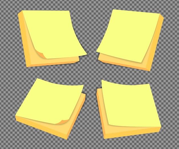 실제 그림자와 격리 현실적인 스티커 메모입니다. 그림자, 종이 페이지가있는 정사각형 스티커 종이 알림.