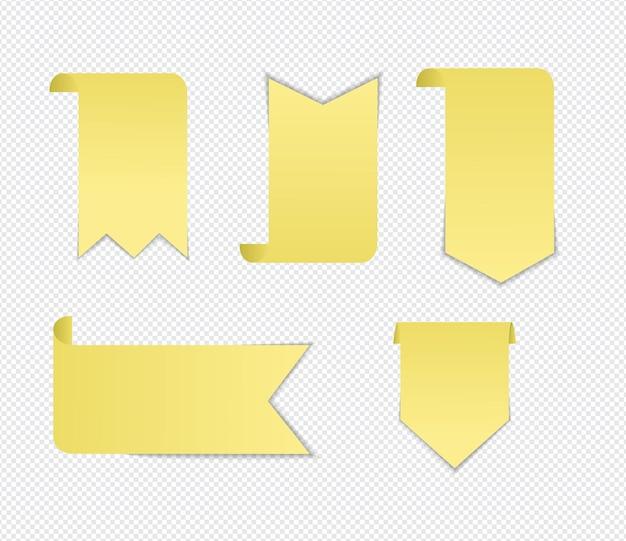 Realistic sticky notes isolated with real shadow on white background.