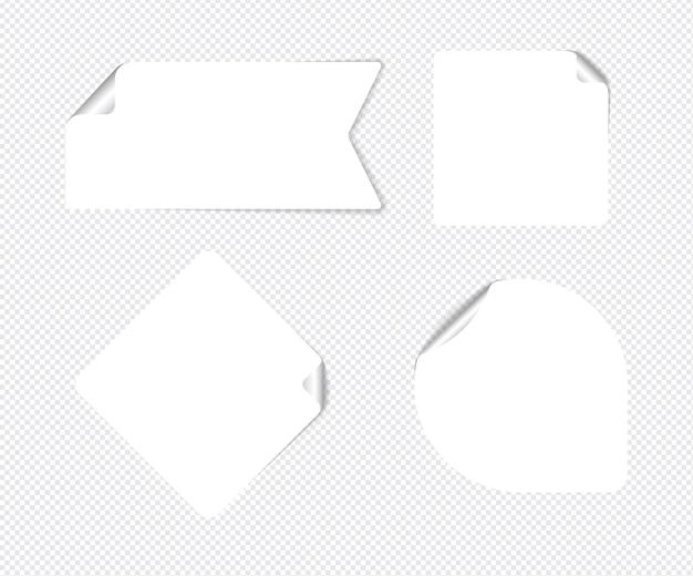 Реалистичные стикеры, изолированные с реальной тенью