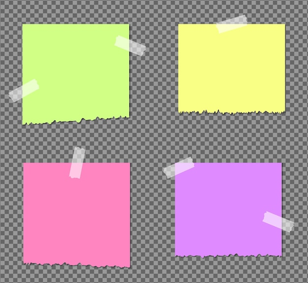 Realistic sticky notes isolated