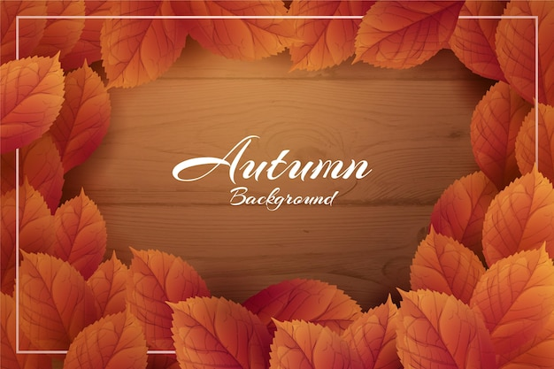 Realistic style autumn background