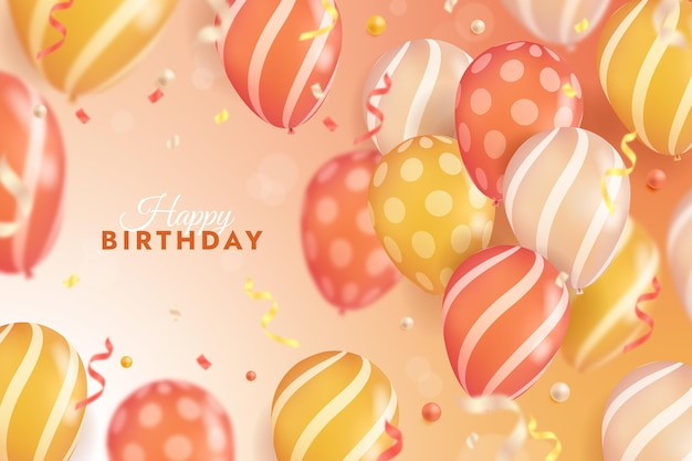 Realistic style balloons background