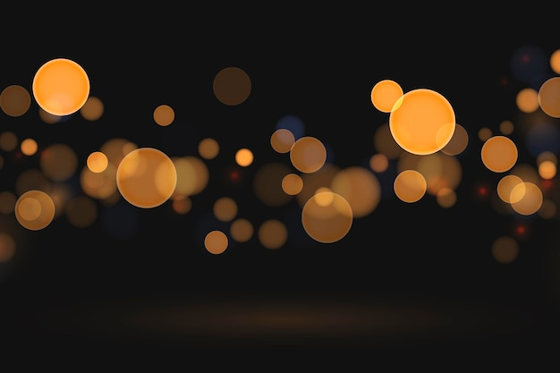 Realistic style bokeh background