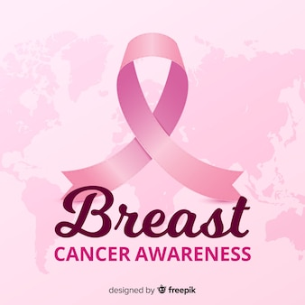 Realistic style breast cancer awareness event