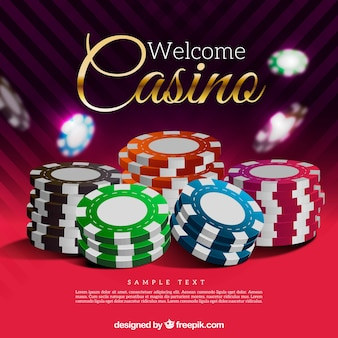 Realistic style casino chips background