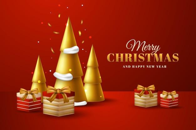 リアルなスタイルのクリスマスの背景