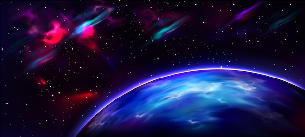 Realistic style galaxy background