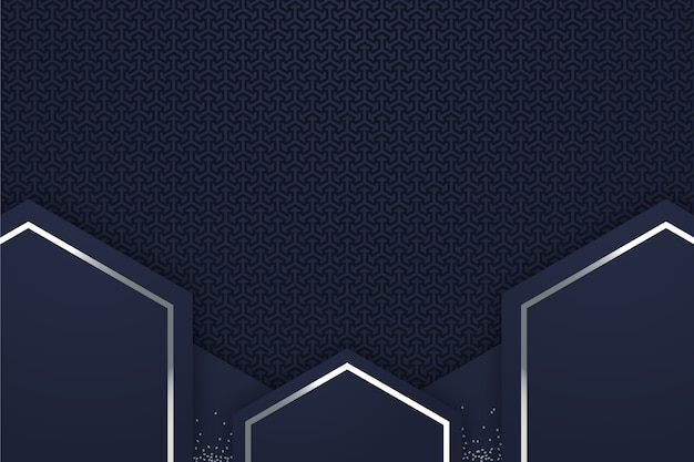 Realistic style geometric shapes background