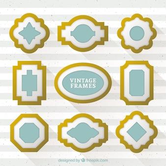Realistic style gilt frames