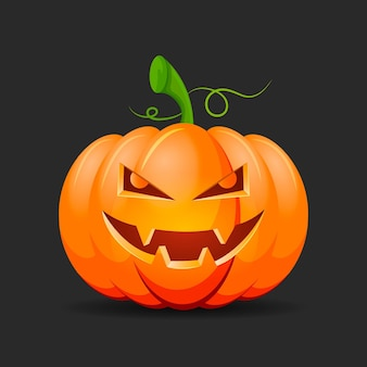 Realistic style halloween pumpkin