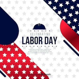 Realistic style labor day background
