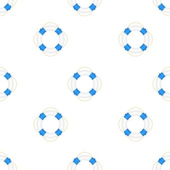 Реалистичный стиль, узор спасательного круга на белом фоне. векторная иллюстрация штока.