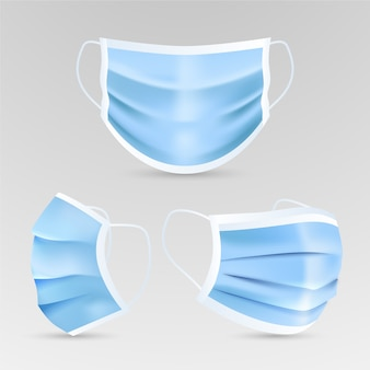Realistic style of medical mask