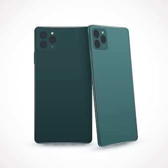 Realistic style for new smartphone model