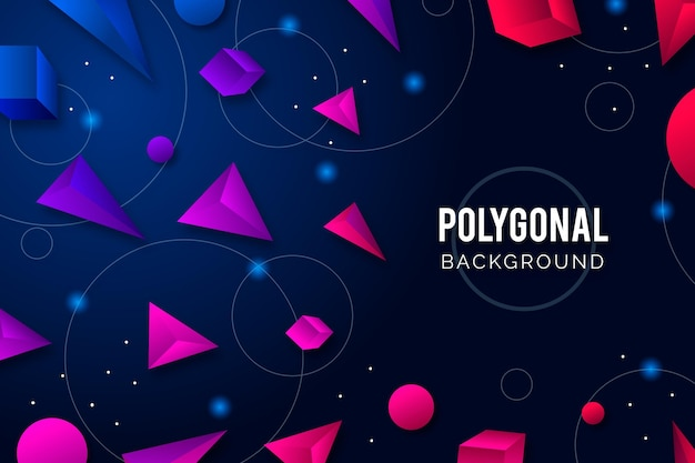 Realistic style polygonal background