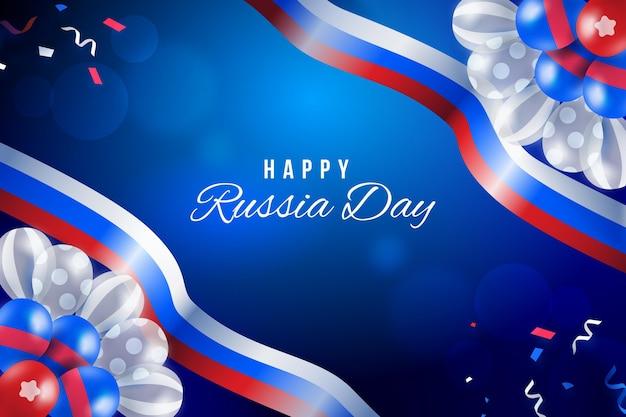 現実的なスタイルのロシアの日の背景
