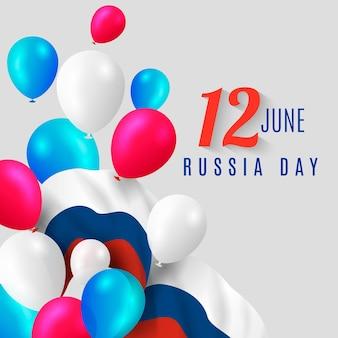 Реалистичный стиль празднования дня россии