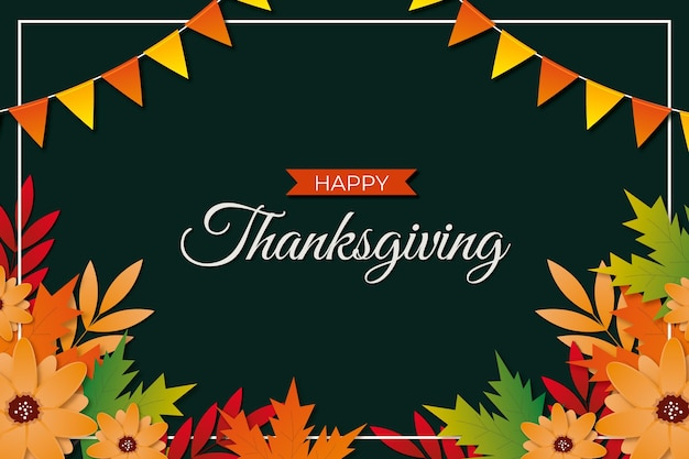 Realistic style thanksgiving background