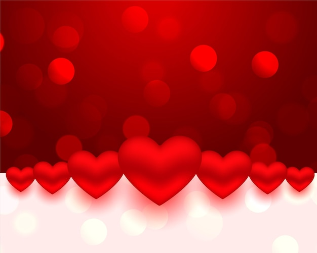 현실적인 스타일 발렌타인 하트 카드 디자인